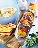 Beef and pepper kebab