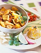 Curried pork with pineapple