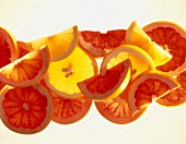 Slices of lemon and grapefruit