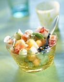 Melon and raw ham salad