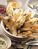 Fried chicory leaves