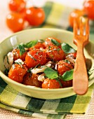 pan-fried cherry tomatoes with basil (topic: tomatoes)