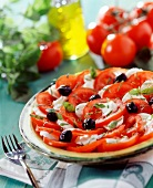 Tomato and mozzarella salad
