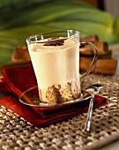 Chilled creamy coffee crumble