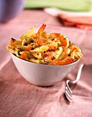 Penne with prawns and sechuan pepper
