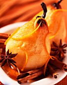 Oven roasted pears (topic : winter fruits)