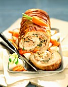belly of veal stuffed with Corsican ham