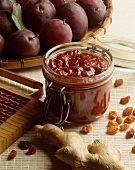 Plum and ginger chutney