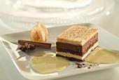 entremet vanilla chocolate dessert cake