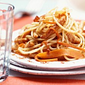 Spaghetti with roast veal