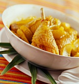 Creole chicken and potatoes