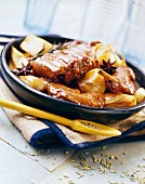 Rabbit casserole with fennel
