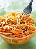 Grated carrot salad with ginger