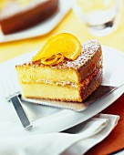 Moist orange sponge cake