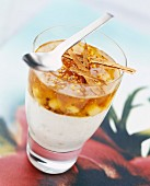 Spiced fromage frais with apple jelly