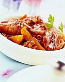 Chicken tajine with saffron and figs