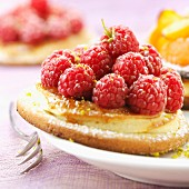 raspberry tartlet