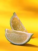 Quarters of lemon