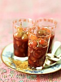 Grapes in spiced wine jelly