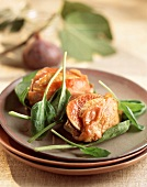Saltimbocca with figs and Parma ham