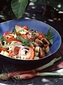 Tomato salad with croutons