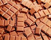 Viele Tafeln Milchschokolade (Ausschnitt)