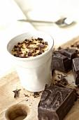 Vanilla and chocolate cream