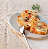 Feta, tomato and olive cake