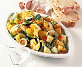 Pumpkin and vegetable salad