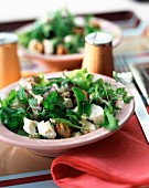 Mesclun and feta salad