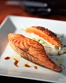 Pawpaw roast salmon