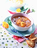 Stewed apricots with lavender