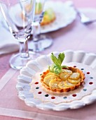 Belle de Fontenay potato tart with creamed herring