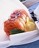 Paupiette of salmon