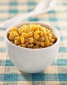 Bowl of sweetcorn