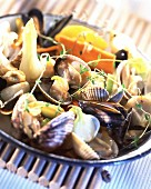 Pickled vegetable and shellfish salad