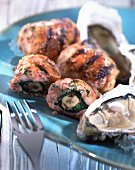 Crépinette oyster slices wrapped in sausage