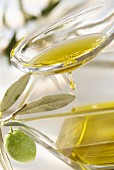 Olive oil in a spoon