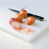 Shallots with knife