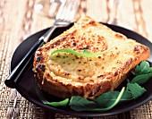 Croque monsieur toasted sandwich