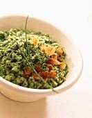 Cauliflower and broccoli puree