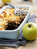 Shepherd's pie with black pudding and apple