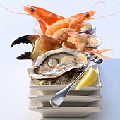 Platter of seafood