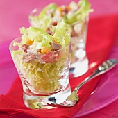 Seafood, bacon and lettuce salad