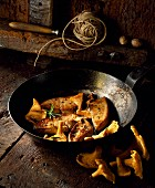 Pan-fried foie gras with Chanterelle mushrooms