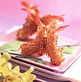 Spiny prawns with cardamine sauce