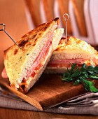 Provençal croque-monsieur toasted sandwich