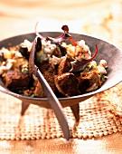 Sauté of tuna with crunchy rice