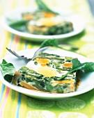 Vegetable and egg terrine