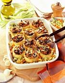 Gegrillte Cannelloni mit Gemüsefüllung